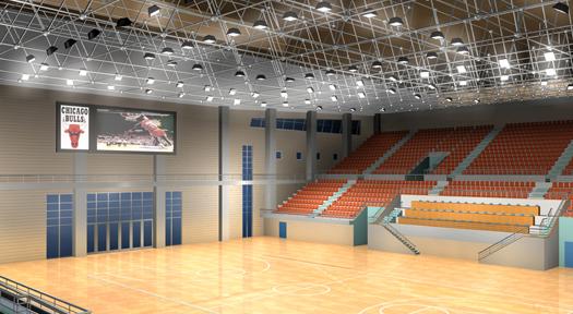 体育馆智能照明项目:内蒙古阿拉善盟文体中心